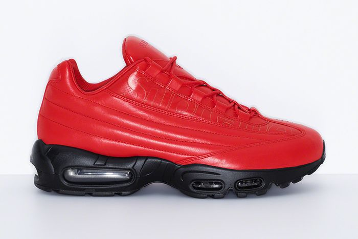 Supreme Nike Air Max 95 Lux Red Release Date Lateral