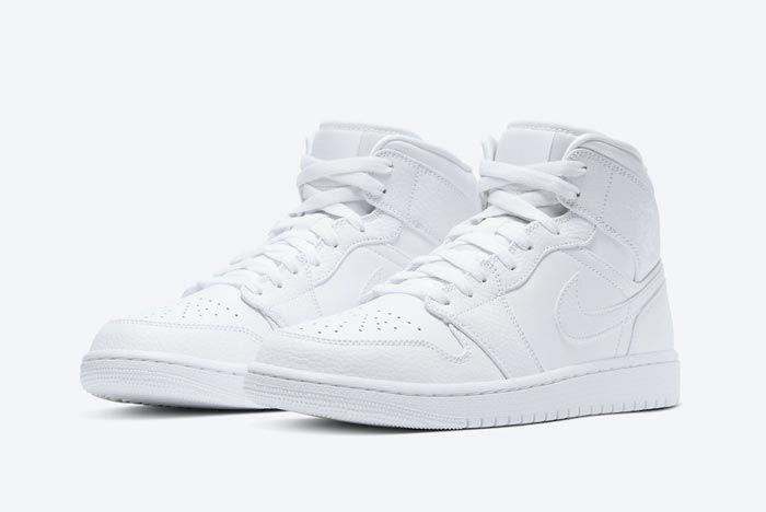 Air Jordan 1 Mid Triple White Pair