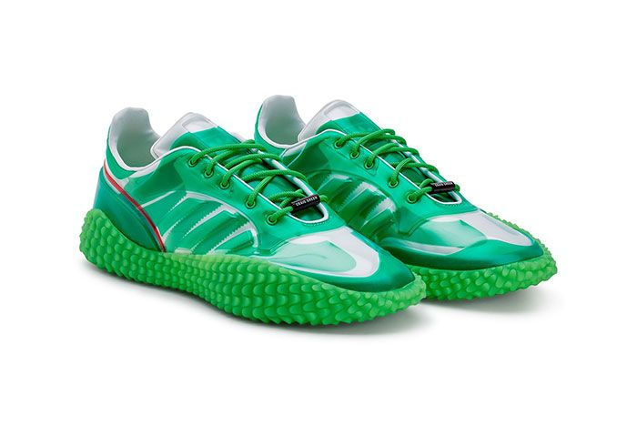 Craig Green Adidas Kamanda Dover Street Market Green Three Quarter Lateral Side Shot