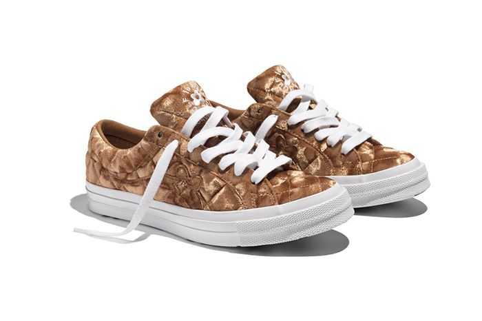 Golf Le Fleur Converse One Star Quilted Velvet Brown Release Date Pair
