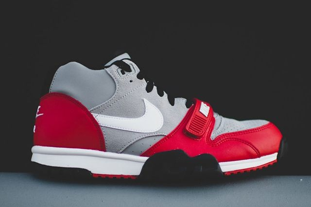 Nike Air Trainer 1 Mid Wolf Grey University Red 5