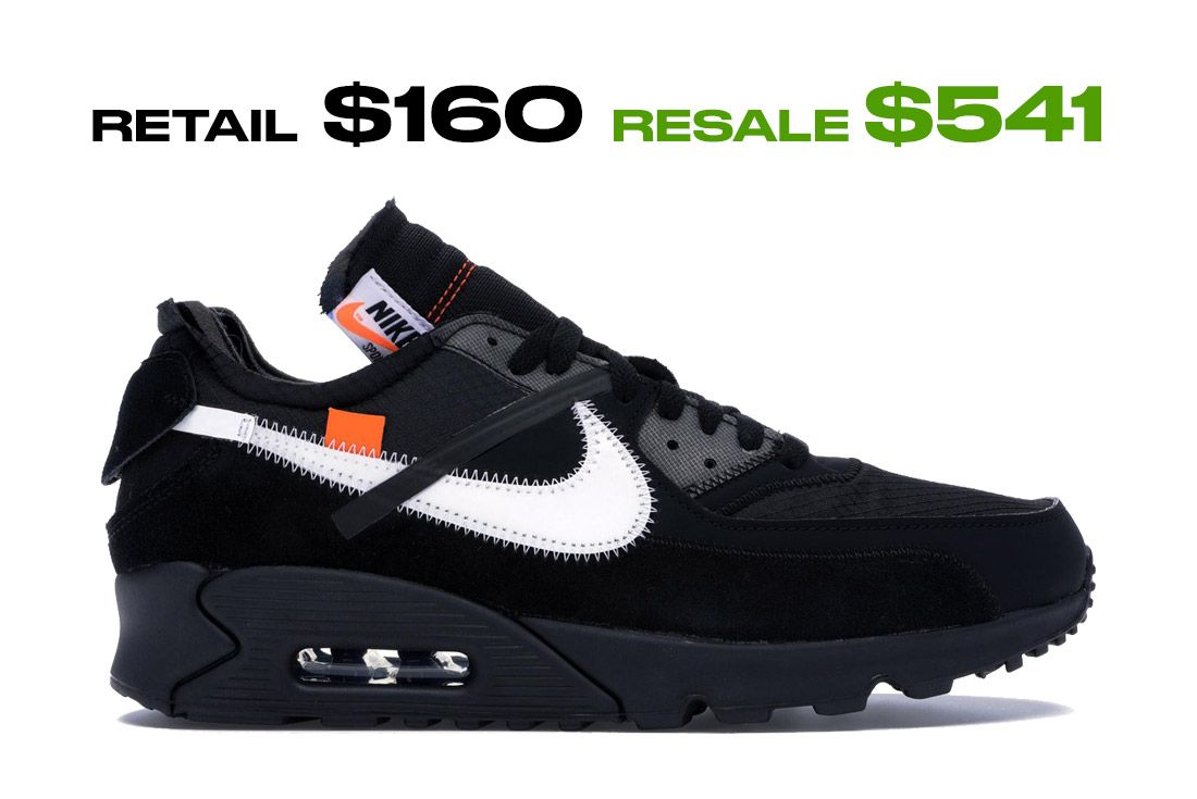 Air Max 90 Off White Black Right Side Shot
