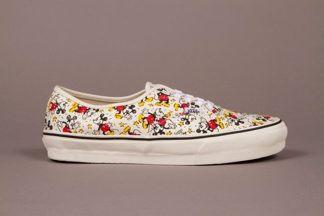 Vault By Vans X Disney Og Authentic Lx Mickey Classic White Adult Fall 2013 1
