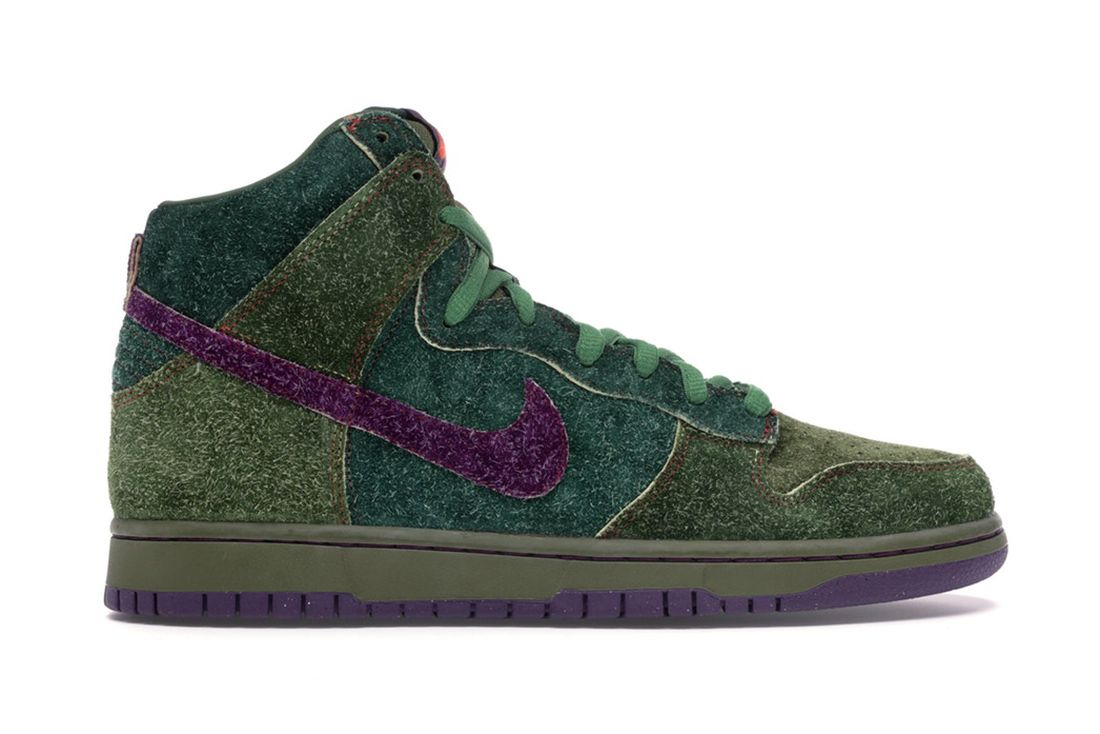 Nike Sb Dunk High Skunk 313171 300 Lateral