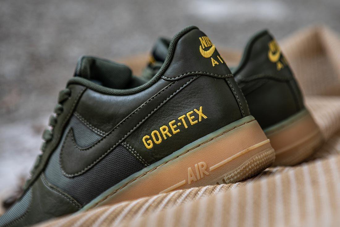 Nike Air Force 1 Gore Tex Green Heel