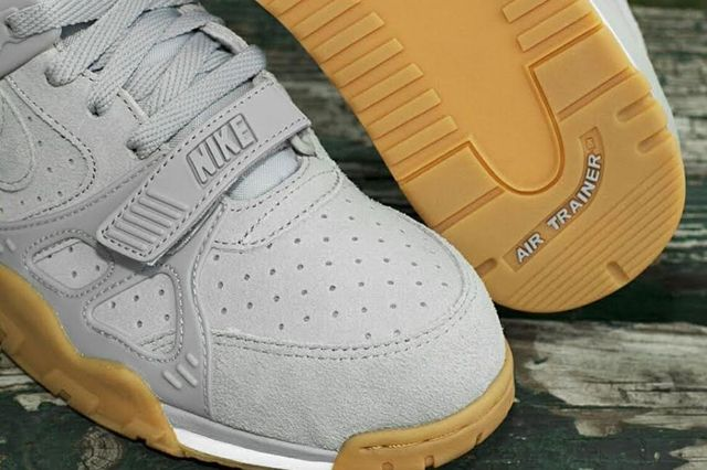 Nike Air Trainer 3 Grey Suede Gum 4