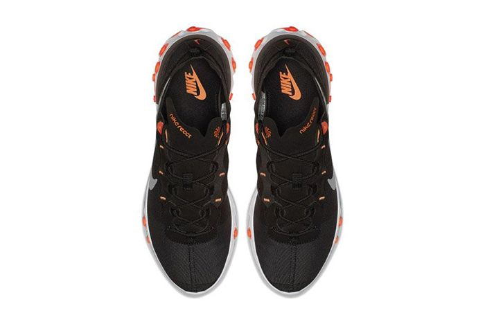Nike React Element 55 Black Orange 3