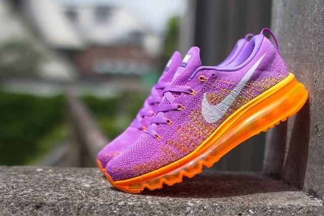 Nike Wmns Flyknit Max Atomic Purple Total Orange 1