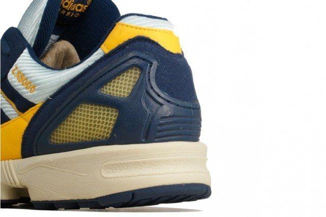 Adidas Zx 8000 Yellow Navy Heel Detail 1 640X426