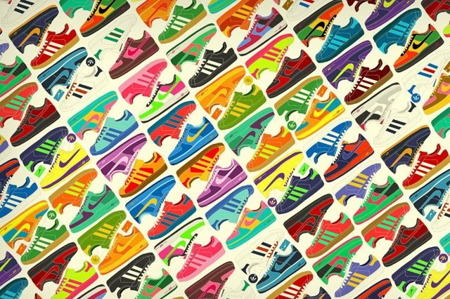 Sneaker Background