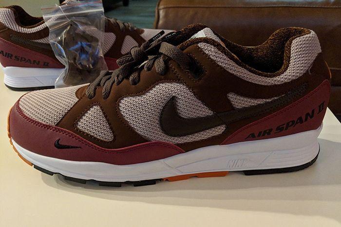 Patta Nike Air Span Ii Burgundy 2 Sneaker Freaker