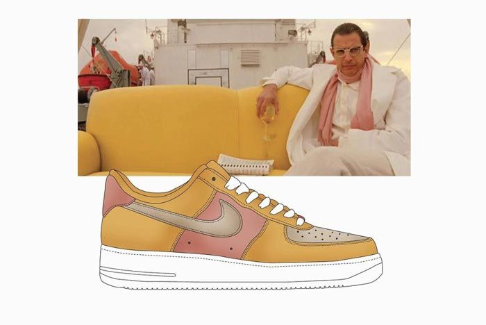 Wes Anderson Sneaker Illustration Air Force 1