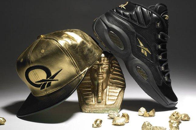 Reebok Question Black Gold New Years Eve Pharoah 1