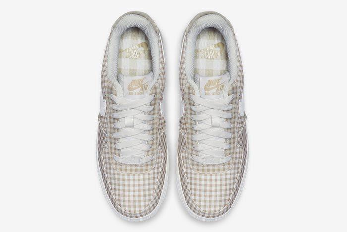 Nike Air Force 1 Gingham Pack Beige Top