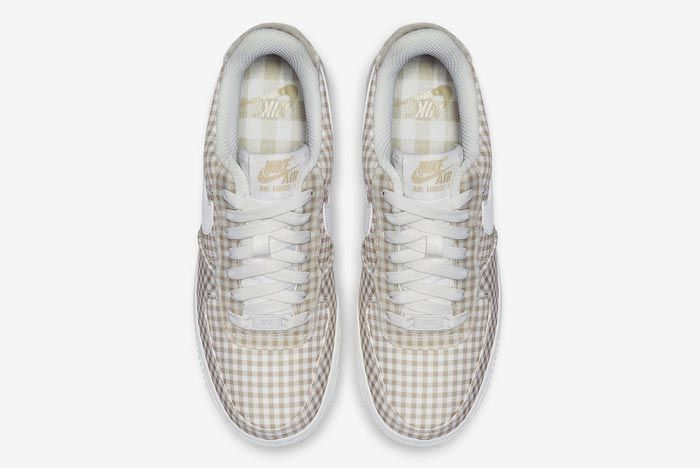 Nike Air Force 1 Gingham Pack Beige Top