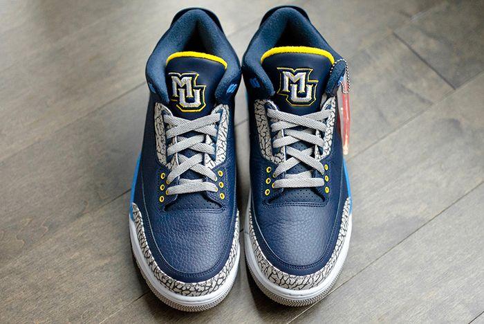 Air Jordan 3 College Pe Marquette 1 Sneaker Freaker