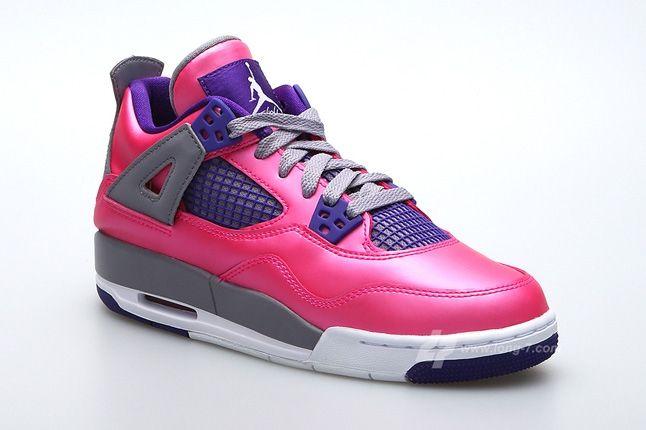Air Jordan 4 Pink Foil Toe Quarter