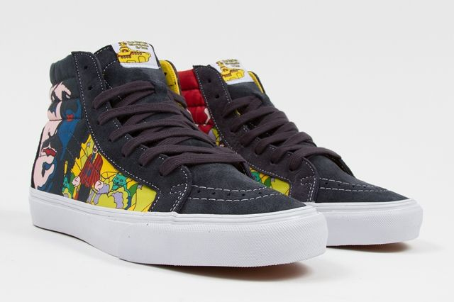 The Beatles Yellow Submarine By Vans Sk8 Hi Reissue Faces Dress Blues Spring 2014