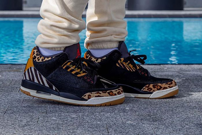 Air Jordan 3 Animal On Foot 4
