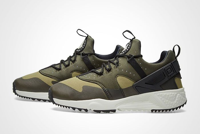 Nike Air Huarache Utility Trooper Sail Olive Green Thumb