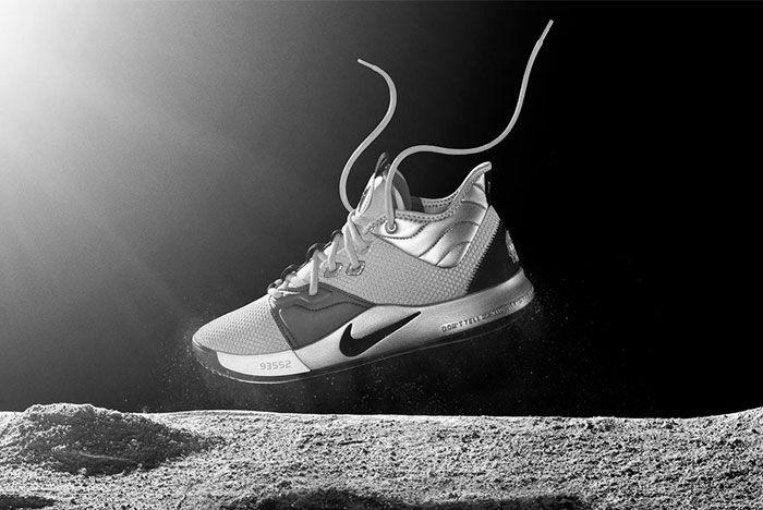 Nike Paul George Black And White Mockup