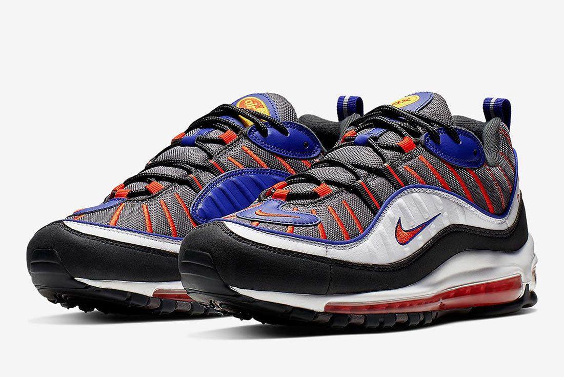 Nike Air Max 98 Grey Blue Orange 640744 012 1