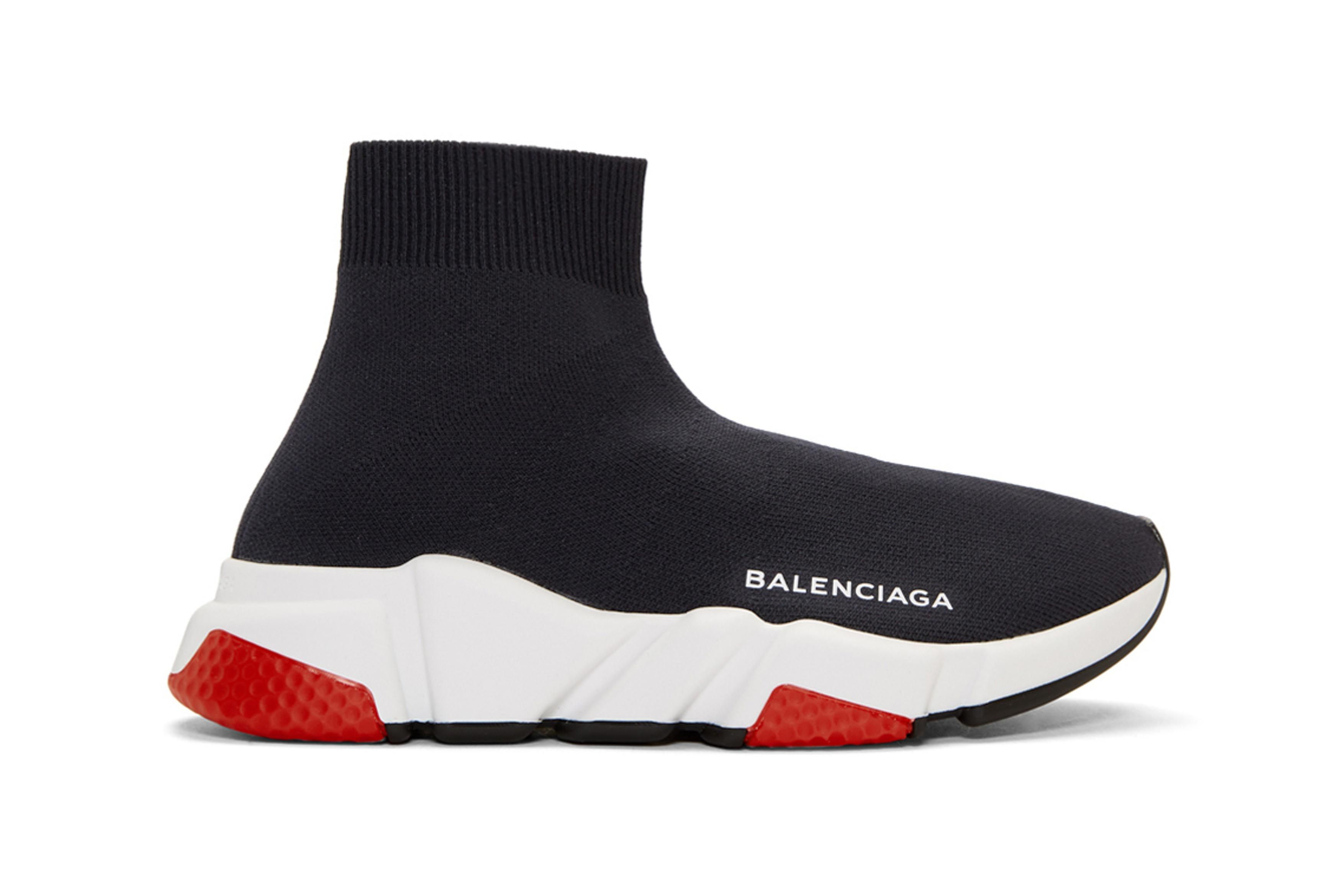 Balenciaga Speed Low High Top Sneakers Black Navy 3 Sneaker Freaker