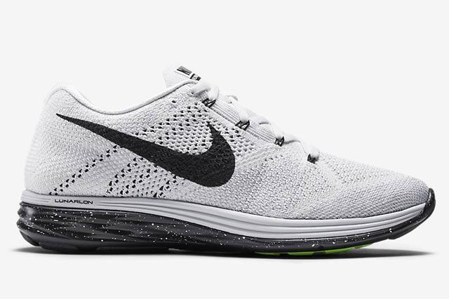 Nike Flyknit Lunar 3 White Black 4
