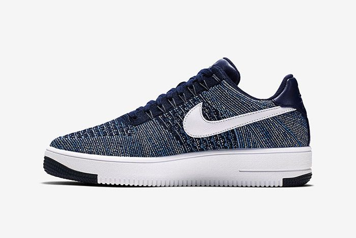 Nike Air Force 1 Flyknit Navy White 5