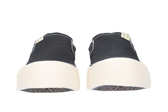 Visvim Skagway Slip On Black Front