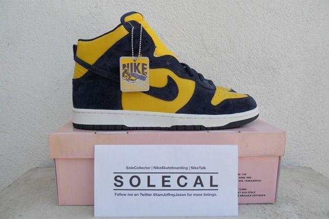 Nike Dunk Yellow Navy 1 1