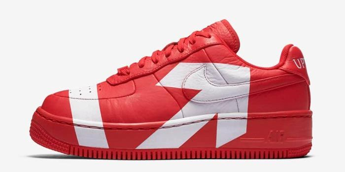 Nike Air Force 1 Upstep Wmns Red White 4