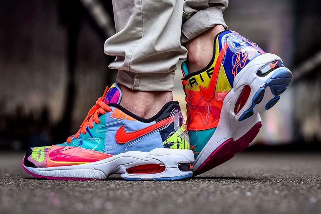 Atmos Air Max 2 Light Side Shot On Foot 1