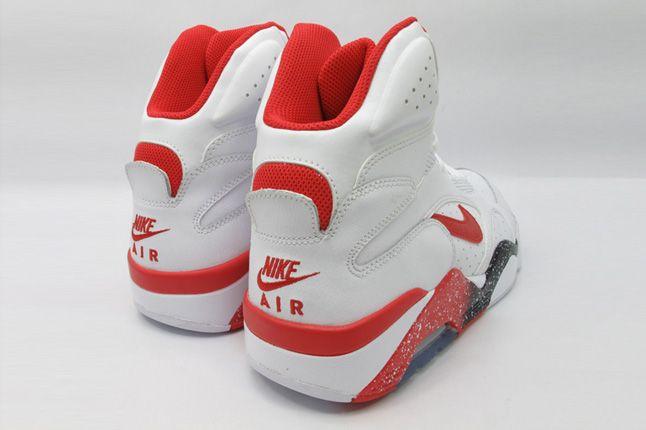 Nike Air Force 180 White Hyper Red Photo Blue Heels 1