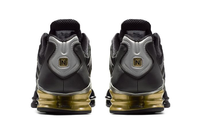 Neymar Nike Shox Tl Black Gold Official Bv1388 001 Release Date Heel