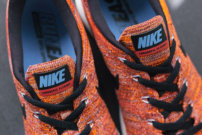 Nike Lunarepic Flyknit Low Orange Red 3