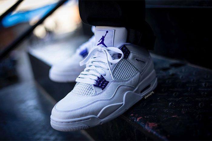Air Jordan 4 Court Purple Stairs Left