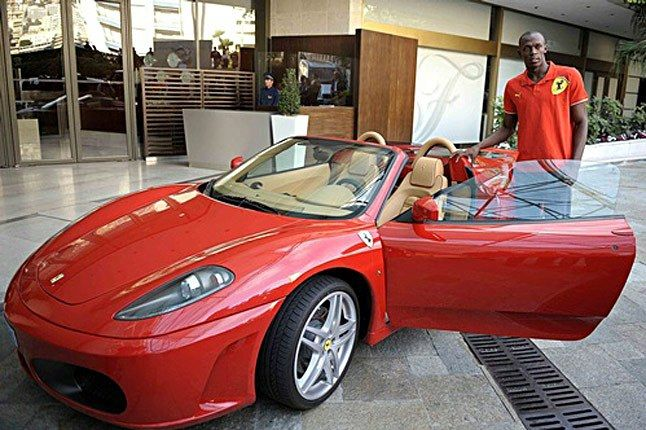 Usain Bolt With F430 Spider 1