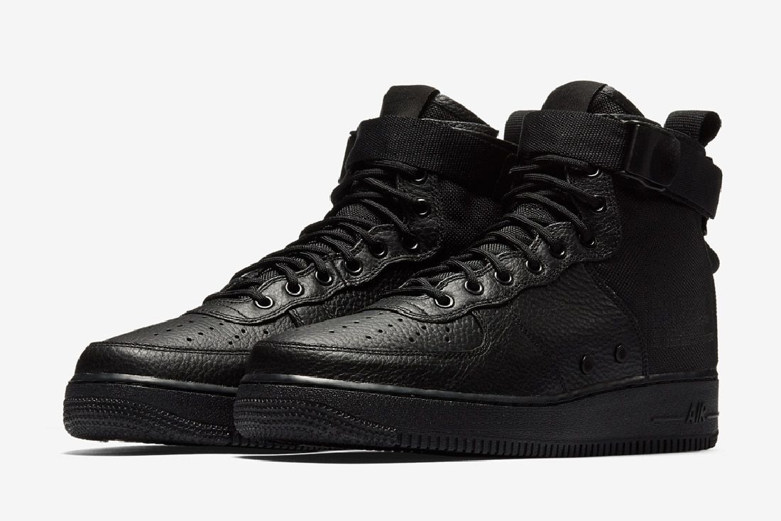 Nike Sf Air Force 1 Mid Black Sneaker Freaker 2