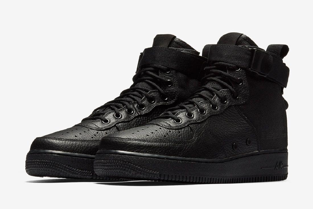 Nike Sf Air Force 1 Mid Black Sneaker Freaker 2