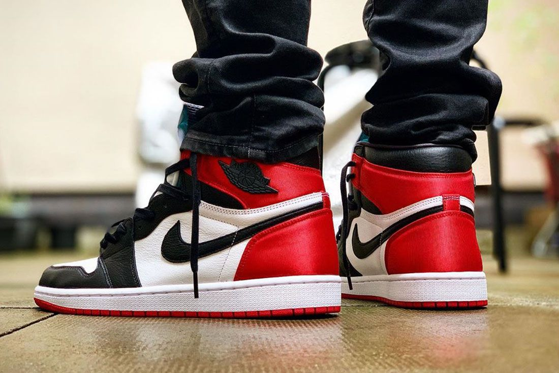 Vanwilljamz Air Jordan 1 Satin Black Toe