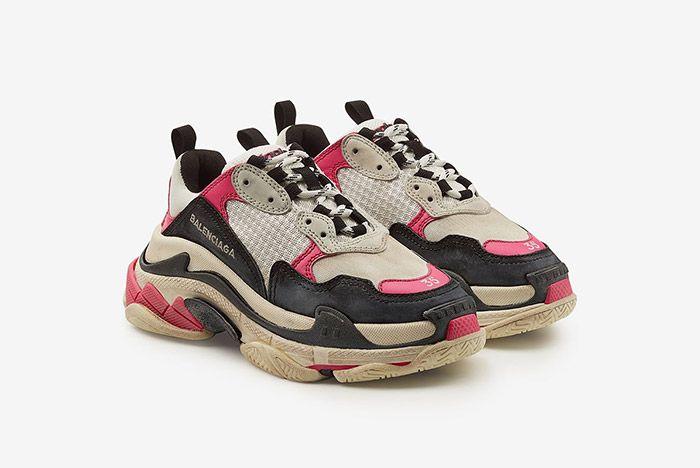2 Triple S Balenciaga Pink Black Sneaker Freaker