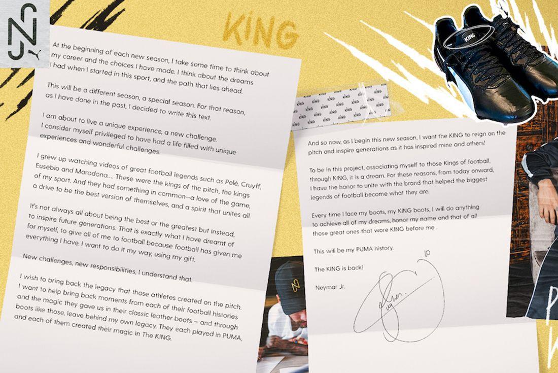 neymar puma letter