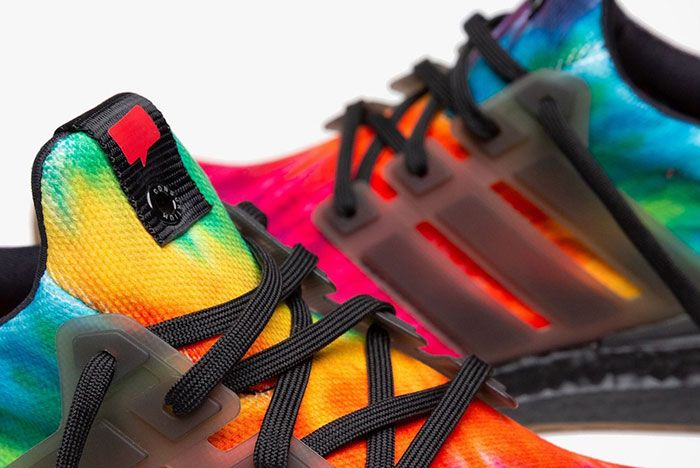 Nice Kicks Adidas Ultra Boost Woodstock Tie Dye Fu9164 Close Up Lace Shot