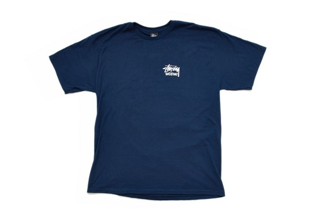 Stussy Singapore Tribe Navy Tee Front 1