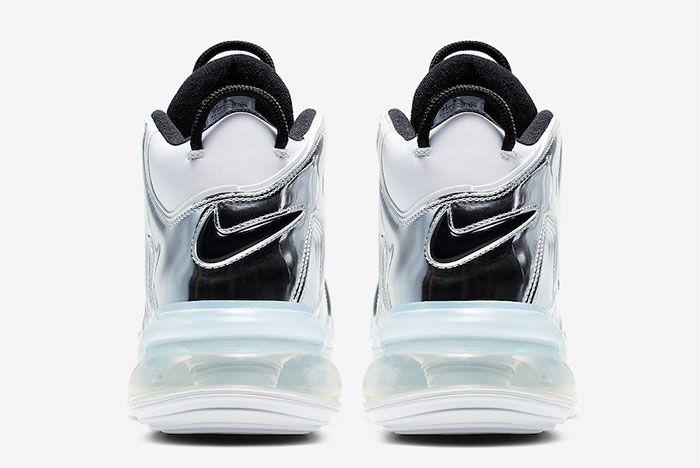 Nike Air More Uptempo 720 White Chrome Heel