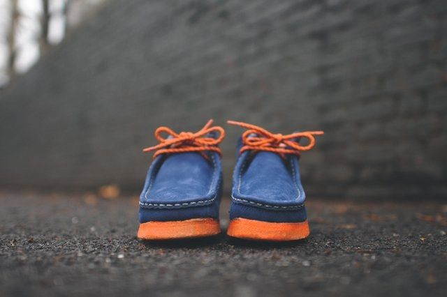 Mf Doom X Clarks Wallabee Boot Navy 2