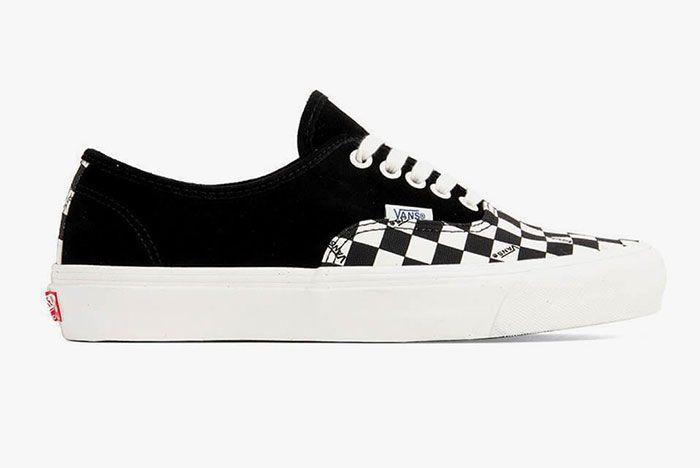 Vans Vault Og Authentic Lx Checkerboard Black Lateral Side Shot