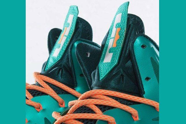 Nike Lebron X Dolphins European Release Tongues 1