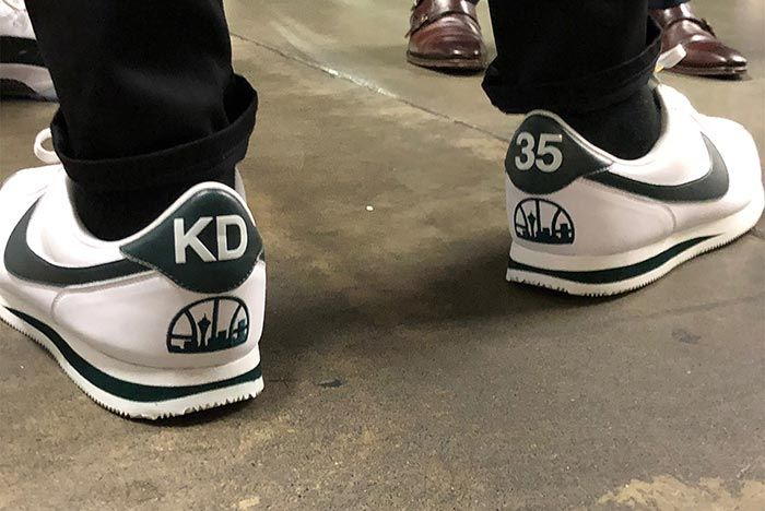 Kevin Durant Returns To Seattle Nike Cortez Supersonics 2